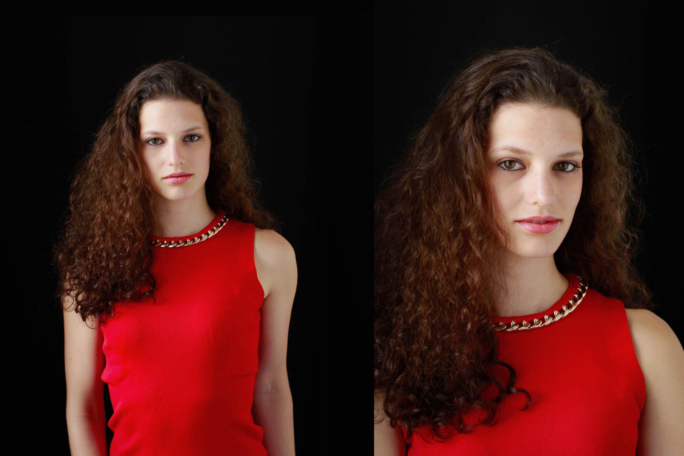 contemporary-portrait-of-Brunette
